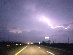 4/7/15: Driving through a lightening storm in Missouri on the way to Kansas City to get on tour.