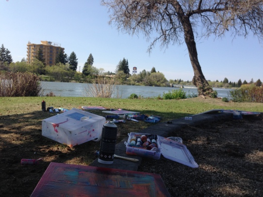 5/1/15: Idaho Falls: painting in the park