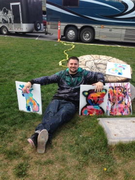 4/29/15: The Heart of Missoula, painted in the park with some hippies.