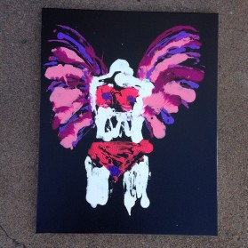 5/8/15: Superior, WI - ending up painting the angel